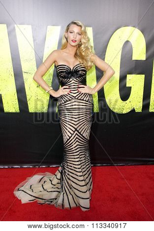 LOS ANGELES, CALIFORNIA - June 25, 2012. Blake Lively at the Los Angeles premiere of 'Savages' held at the Mann Village Theatre, Los Angeles.