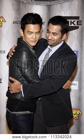 John Cho and Kal Penn at the Scream Awards 2011 held at the Universal Studios Backlot in Universal City, USA on October 15, 2011.