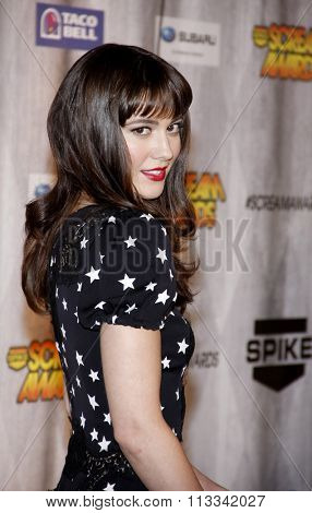 Mary Elizabeth Winstead at the Scream Awards 2011 held at the Universal Studios Backlot in Universal City, USA on October 15, 2011.