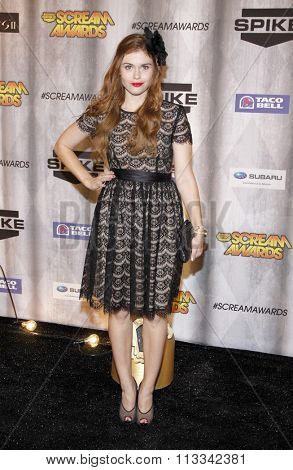 Holland Roden at the Scream Awards 2011 held at the Universal Studios Backlot in Universal City, USA on October 15, 2011.
