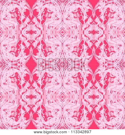 Abstract Vector Seamless Pattern Psychedelic Background.
