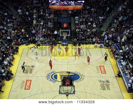 Players Begin Sprinting Down The The Court During Fastbreak