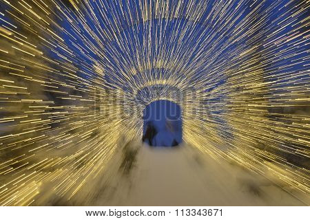 Christmas Lights Tunnel