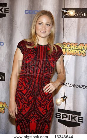 Erika Christensen at the Scream Awards 2011 held at the Universal Studios Backlot in Universal City, USA on October 15, 2011.