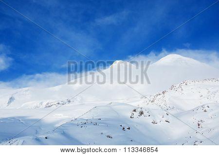 Mount Elbrus, Caucasus, Russian Federation.
