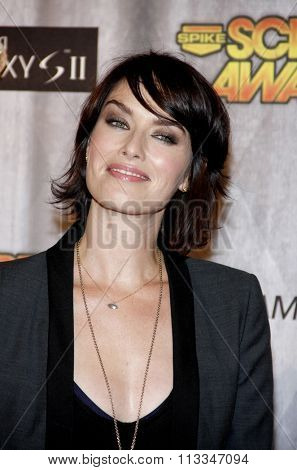 Lena Headey at the Scream Awards 2011 held at the Universal Studios Backlot in Universal City, USA on October 15, 2011.