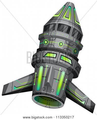 Spaceship with modern design illustration