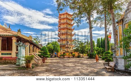 Architecture temple tower in Binh Duong