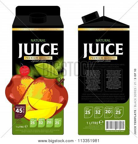 Template Packaging Design Mango Juice