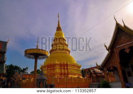 Thai Lanna Hariphunchai Temple