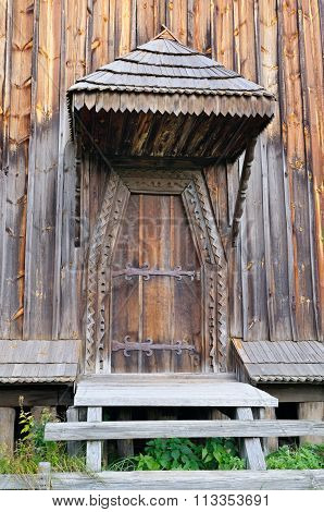 Old Wooden Door And Porch