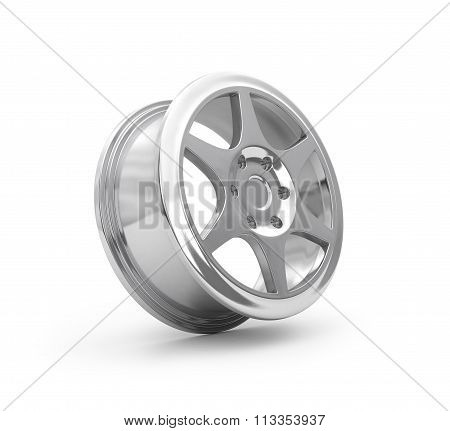 Car Disks Over The White Background