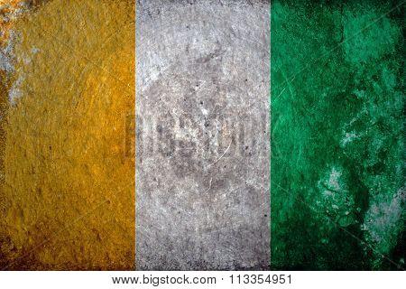 Cote d'Ivoire Grunge