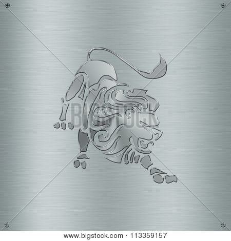 Horoscope Zodiac Sign Leo In Metal Plate