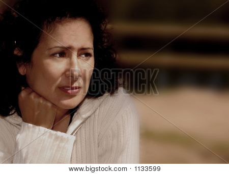 Stressed Woman With Worry