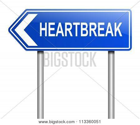 Heartbreak Sign Concept.