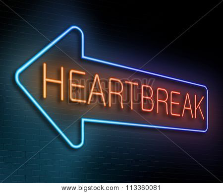 Heartbreak Sign Concept.