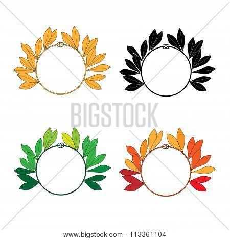 set of 4 Laurel Wreaths