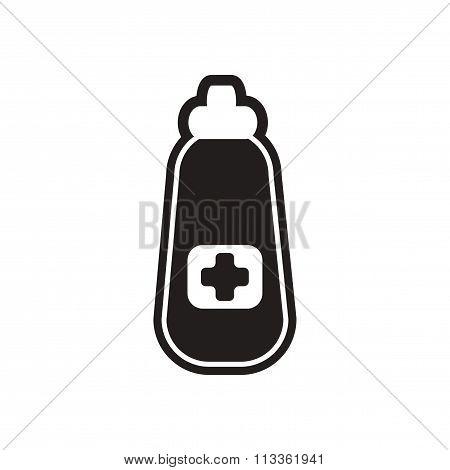 stylish black and white icon medicine bottle