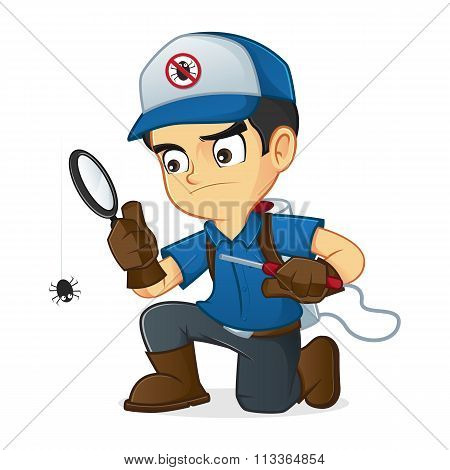 Exterminator Searching For Bugs And Kill Them
