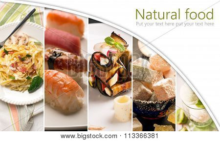 Natural Food Photo Collage