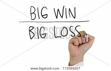 Big Win Or Big Loss, Concept Typography