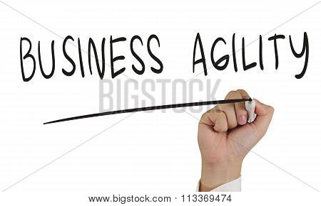 Business Agility, Concept Typography
