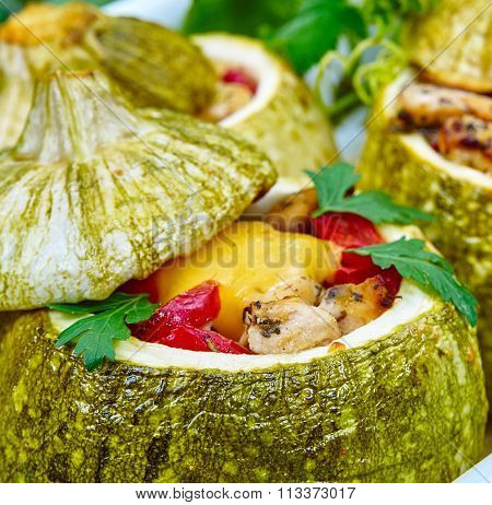 Baked Courgettes Stuffed With Meat