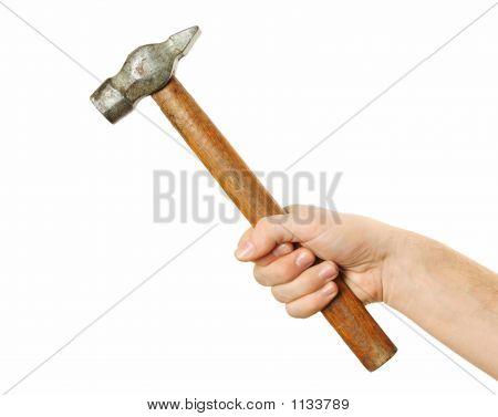 Holding Hammer