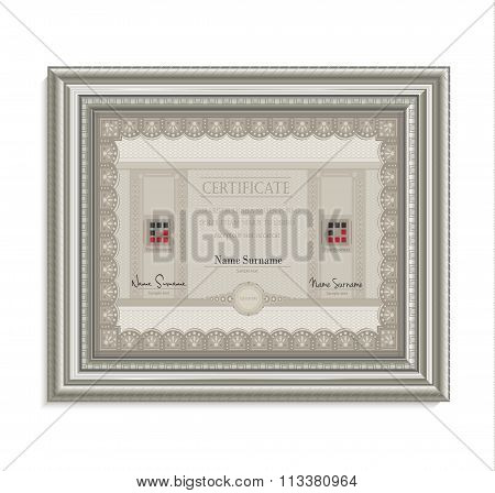 Certificate Frame Image Card Paper 3D Cube Horizontal