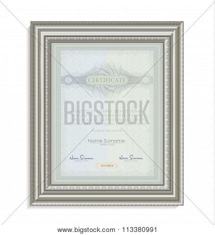 Certificate Frame Image Card Paper 3D Natural Vertical