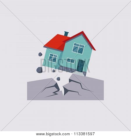 Earthquake Insurance Vector Illustartion