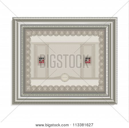 Certificate Frame Image Card Paper 3D Cube Horizontal Raster