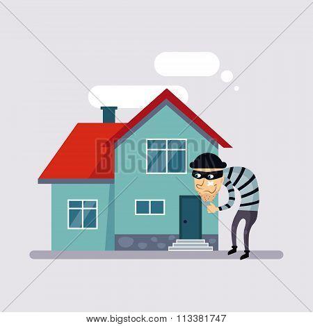 Theft Insurance Vector Illustartion