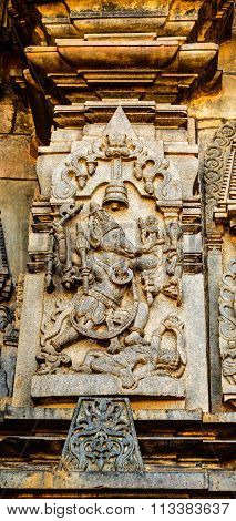 Matsya avatar of Lord Vishnu at Chennakesava temple at Belur captured on December 30th, 2015