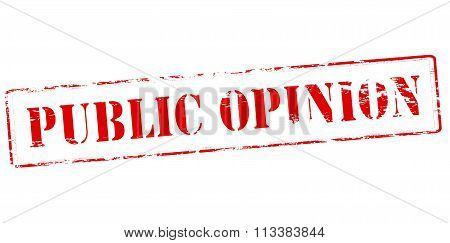 Rubber stamp with text public opinion inside vector illustration