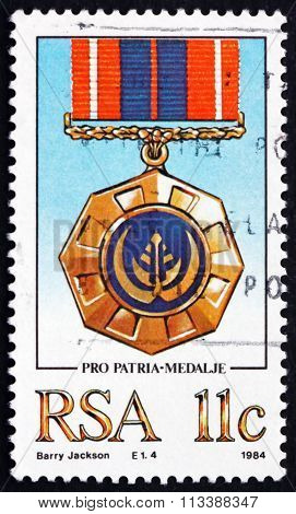 Postage Stamp South Africa 1984 Pro Patria, Military Medal