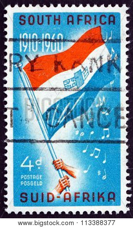 Postage Stamp South Africa 1960 Flag And Notes