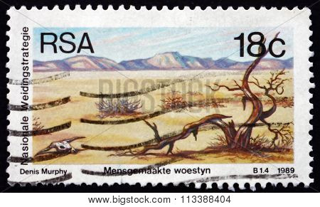 Postage Stamp South Africa 1990 Desertification
