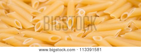 Pasta Penne texture background