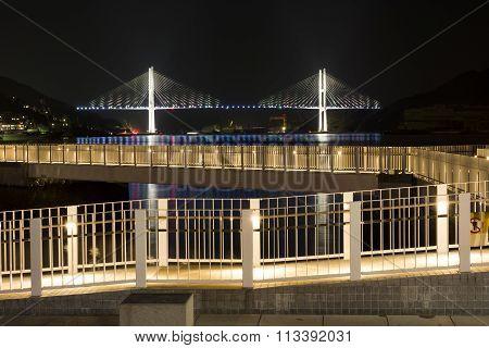 Walkway and bridge