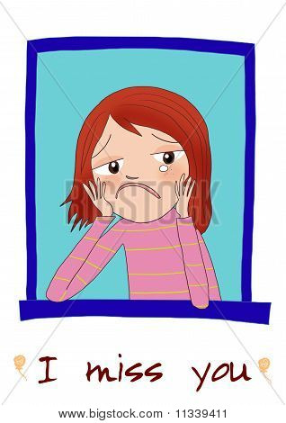 Depressed Woman Cartoon