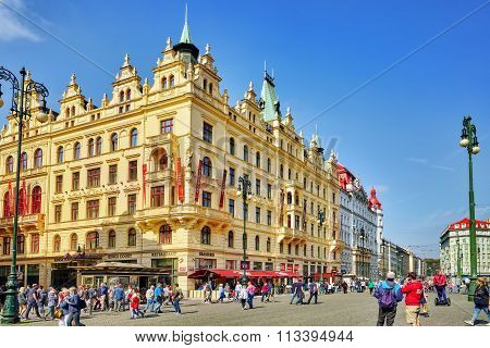 Prague, Czech Republic- September 12, 2015: Historical And Ordinary Views Of Prague, Architectural,