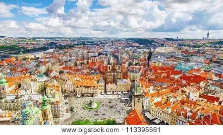 Church Of Our Lady(staromestske Namesti) On Historic Square In The Old Town Quarter Of Prague.it Is