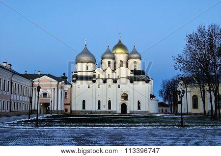 Saint Sophia Cathedral In Veliky Novgorod, Russia