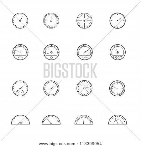 Speedometer and tachometer set