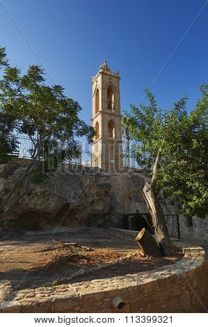 Bell tower of the ancient monastery in Ayia Napa