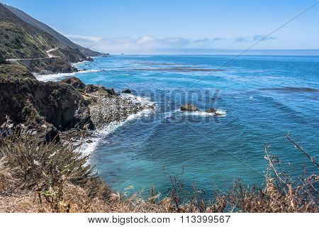 The coast along Big Sur, California