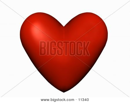 Red Love Isolated