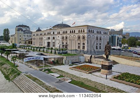 city center of Skopje, Macedonia